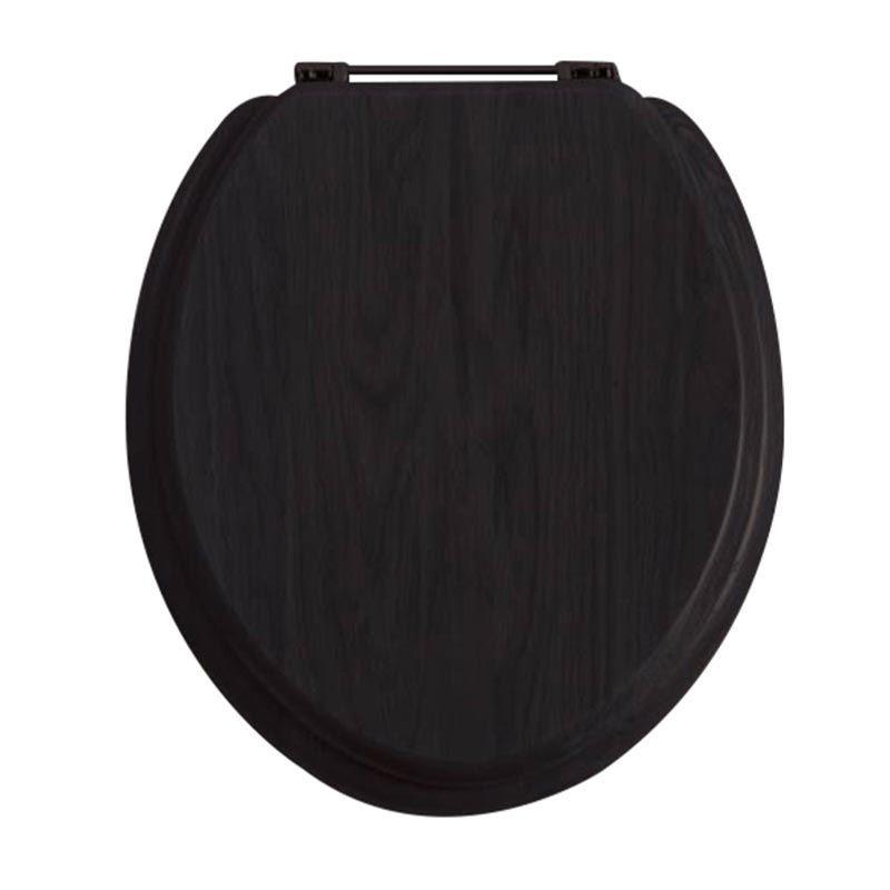 Heritage Wooden Toilet Seat Black Buy Online At Bathroom City