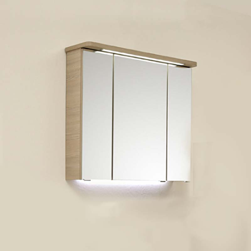 Swell Pineo Bathroom Mirror Cabinet With Led Illuminated Canopy And Power Socket Home Interior And Landscaping Oversignezvosmurscom