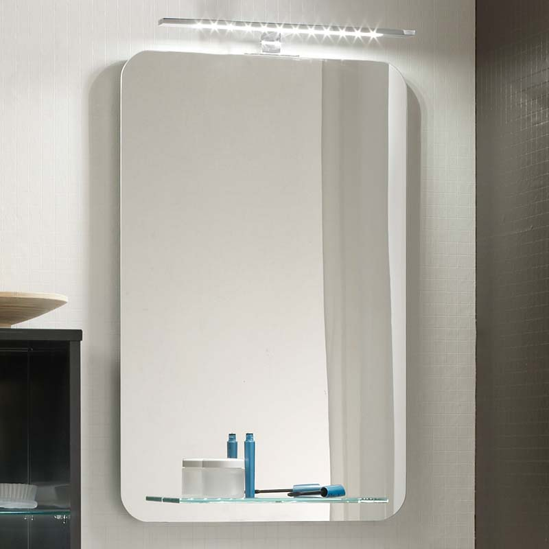 Solitaire 6900 Bathroom Mirror With Glass Tray Buy Online At Bathroom City
