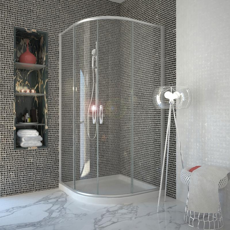 BC 900 Quadrant Shower Enclosure Buy Online at Bathroom City