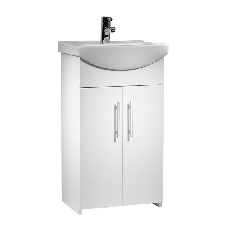 Tavistock opal 500mm vanity unit and basin buy online at for Bathroom cabinets 500mm wide