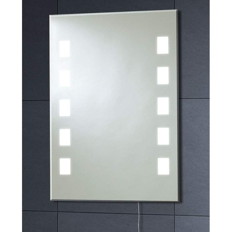 MI006 70x50 Back Lit Mirror 10 Square