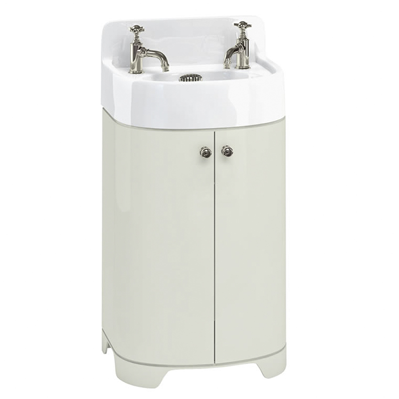 Small Sink And Vanity Unit. Arcade 500mm Cloakroom Basin  Vanity Unit SAnd Colour curved Designer and Stylish Bathroom Accessory Small vanity units wide range in stock at City