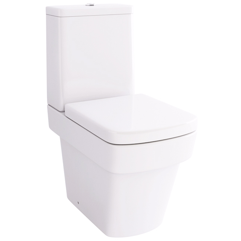 Bloque Str8 Close Coupled Wc With Fixings and SC seat
