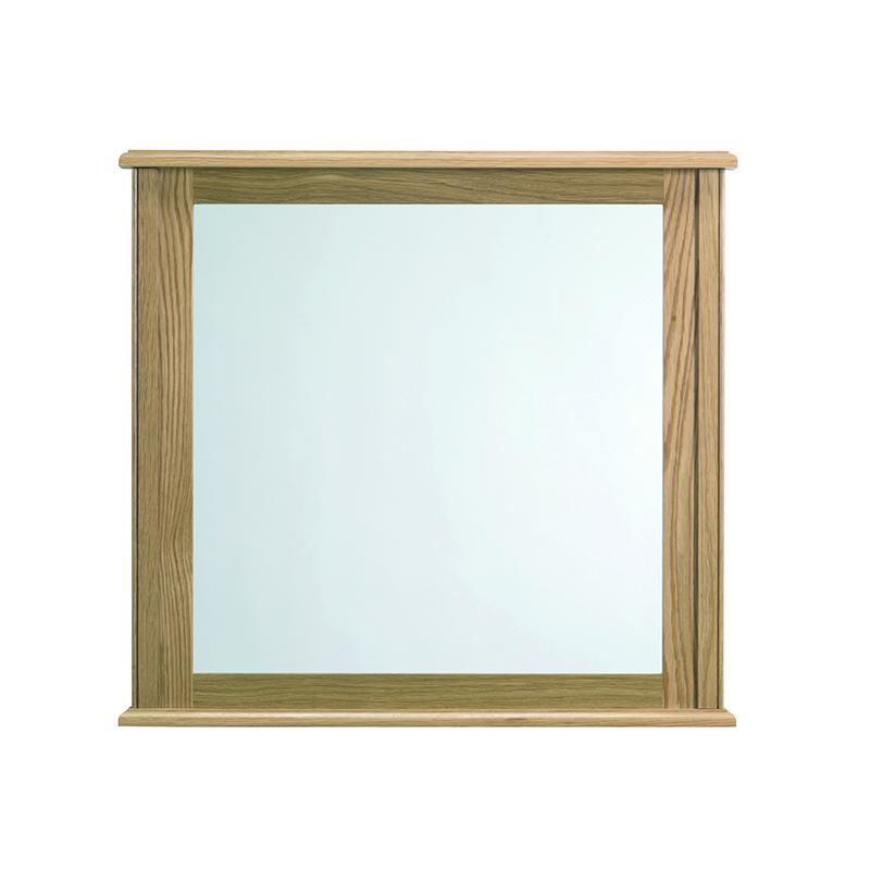 Thurlestone Small Mirror Natural Oak including Istia Mirror Brackets Chrome