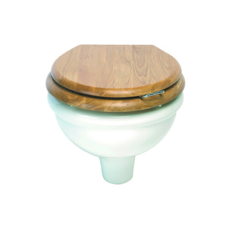 Etoile Wall Hung Pan with Oval Toilet Seat