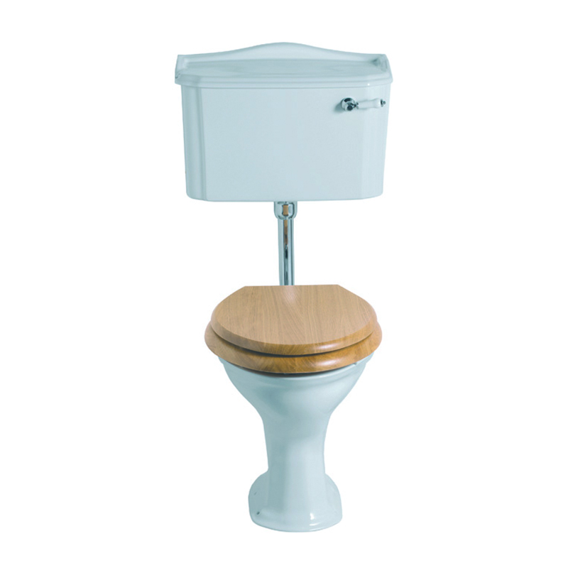 Drift Low Level Cistern White/Chrome with Pan and Seat