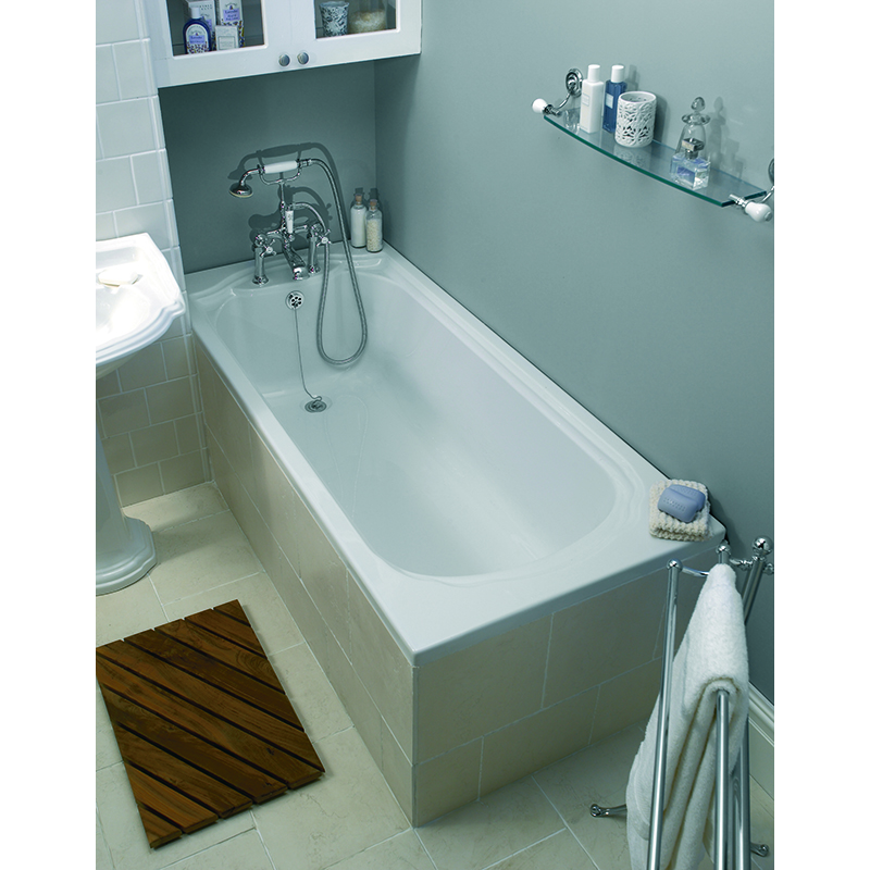 Bathroom City : Oxford Bath 1700x750 White Buy Online at Bathroom City