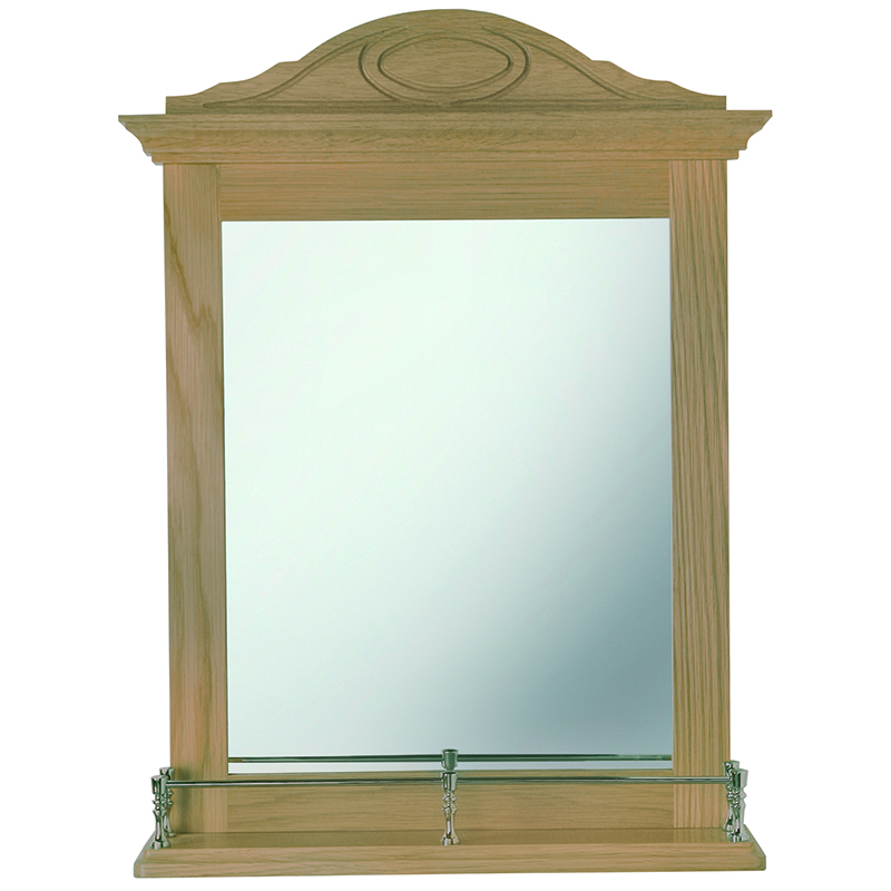 Westminster Gallery Mirror Antique Gold Rail Mahogany Finish