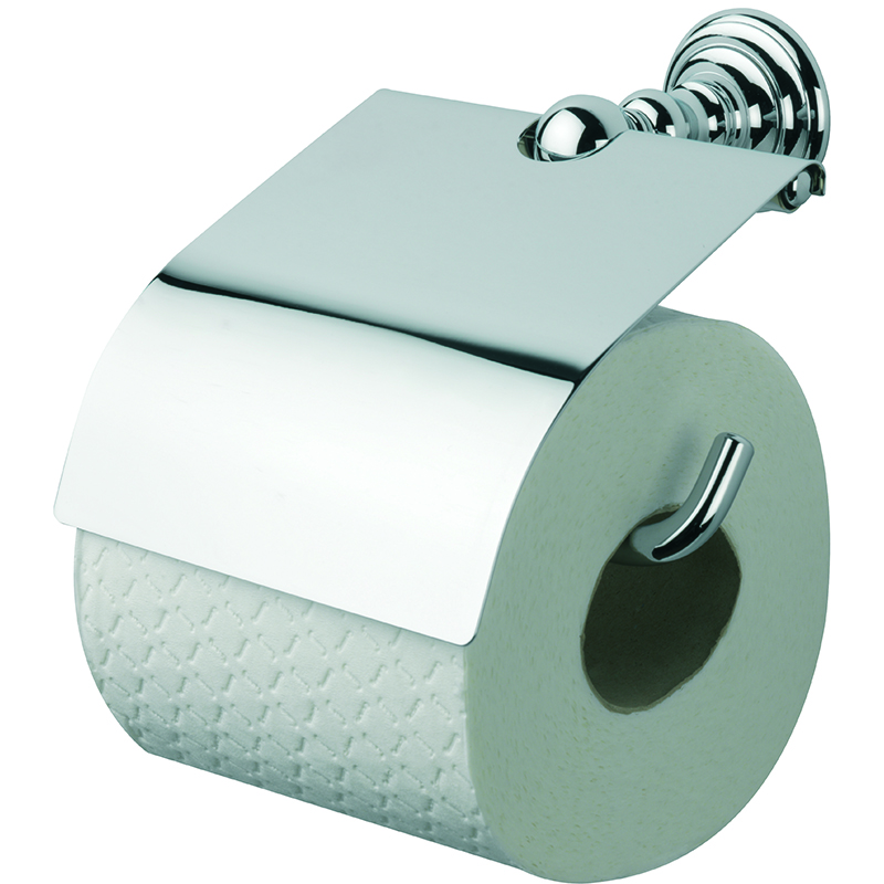 Richmond Wall Mounted Closed Toilet Roll Holder Chrome
