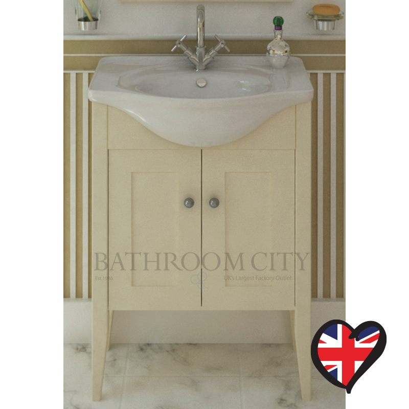 Insolito Carolla 65 Bathroom Vanity Unit And Basin (French Vanilla)