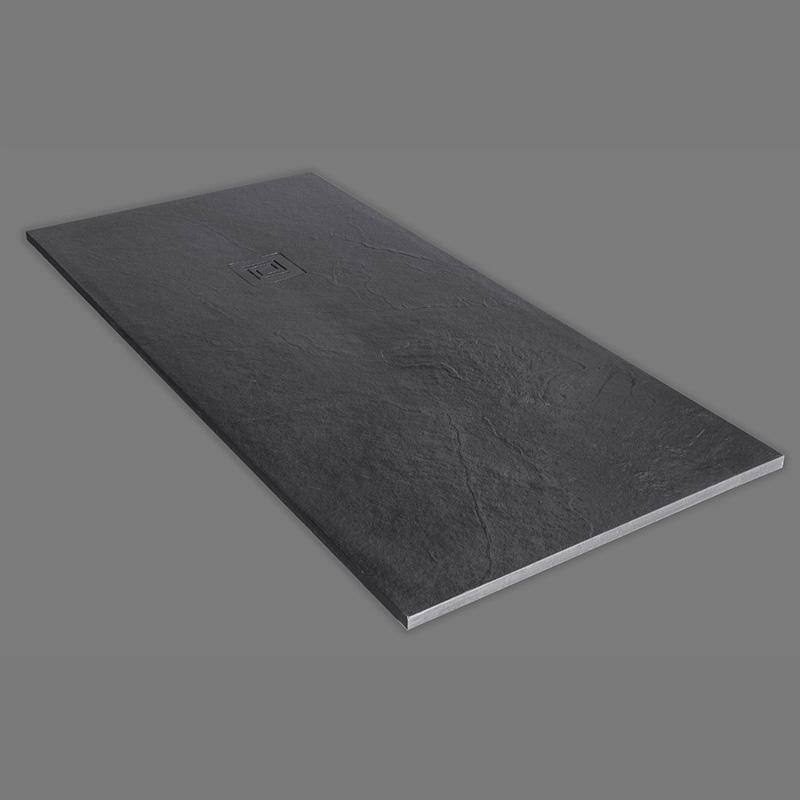 truestone rectangular shower tray slate black buy online. Black Bedroom Furniture Sets. Home Design Ideas