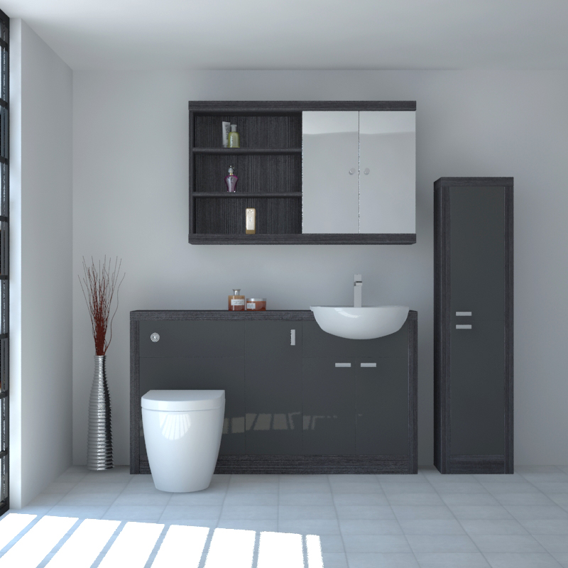 Hacienda 1500 Fitted Furniture Pack Grey Buy Online at ...