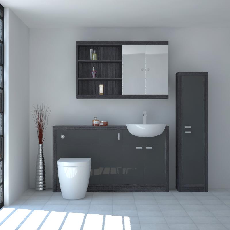 hacienda 1500 fitted furniture pack grey buy online at. Black Bedroom Furniture Sets. Home Design Ideas