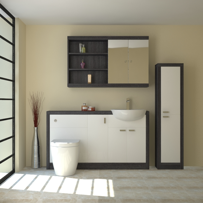 Hacienda 1500 fitted furniture pack white buy online at for Small baths 1500