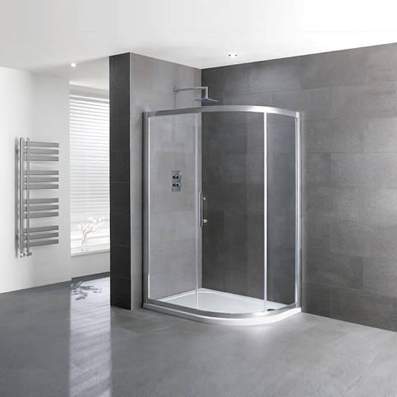 Volente Single Door Offset Quad Silver Shower Enclosure Buy Online At Bathroom City