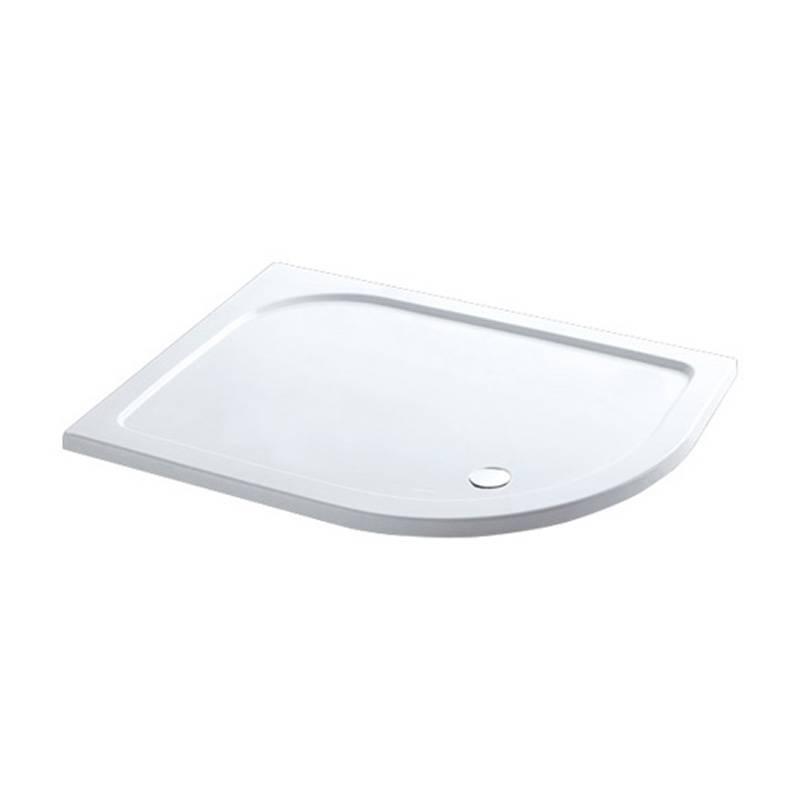 Volente 1300 x 760 LH offset Quad ABS stone resin White