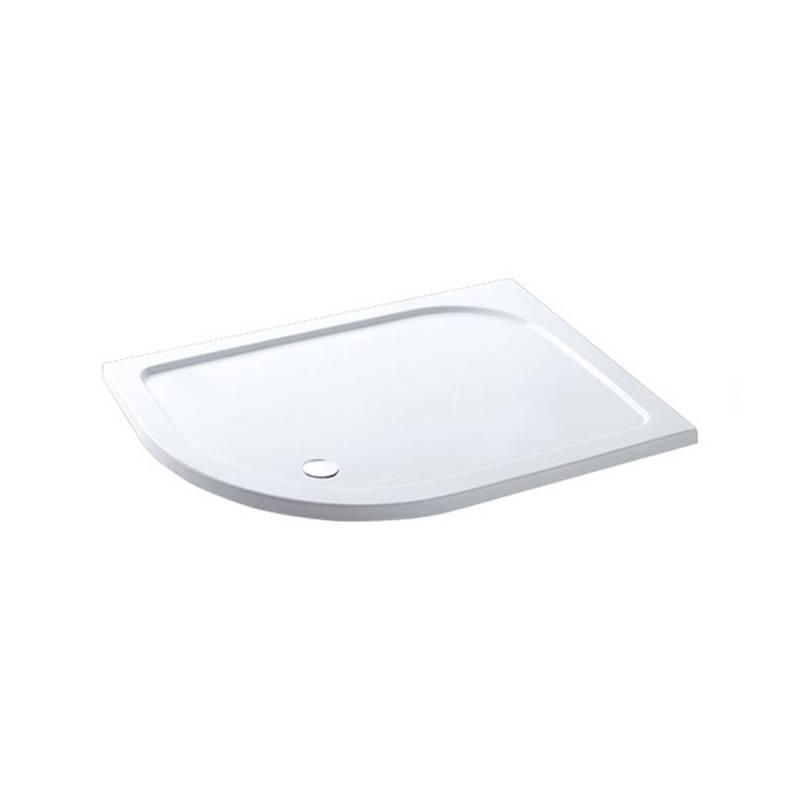 Volente 1400 x 800 LH offset Quad ABS stone resin White