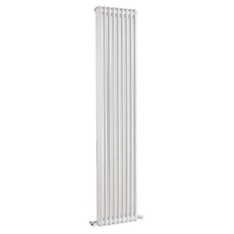 WHITE TRADITIONAL 2 COLUMN RADIATOR 1800 X 9 SECTIONS