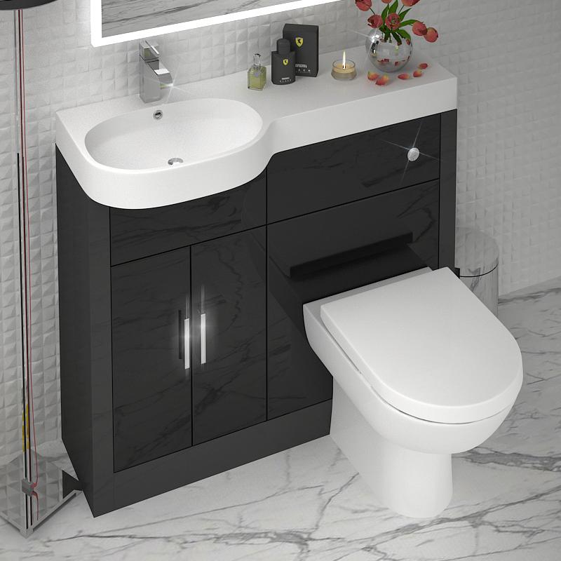 Grey 1000 Vanity Unit Lh Colour Options Buy Online At