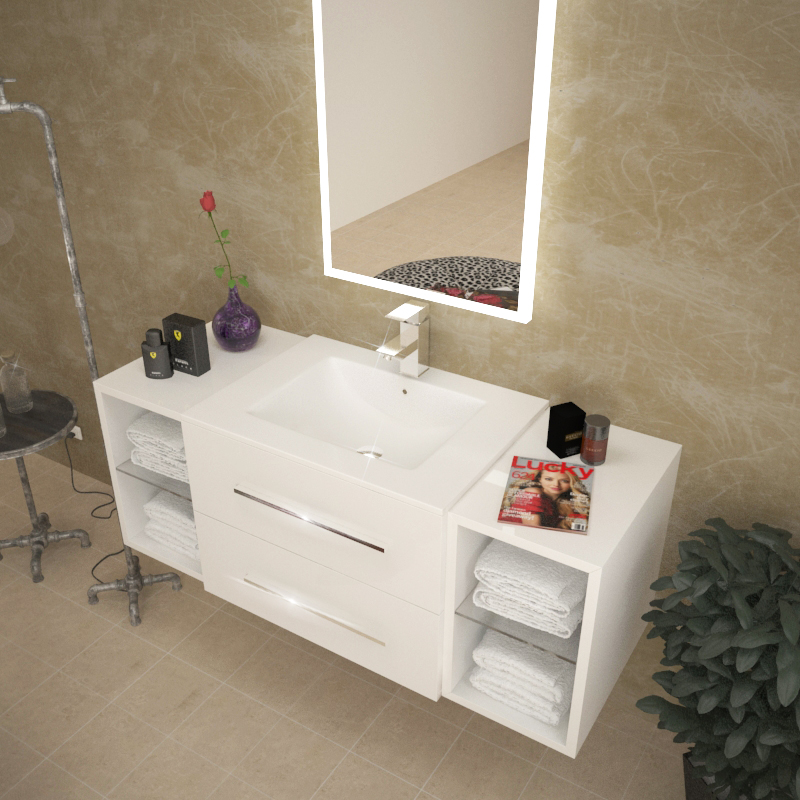 Sonix 1170 White Wall Hung Unit Buy Online At Bathroom City