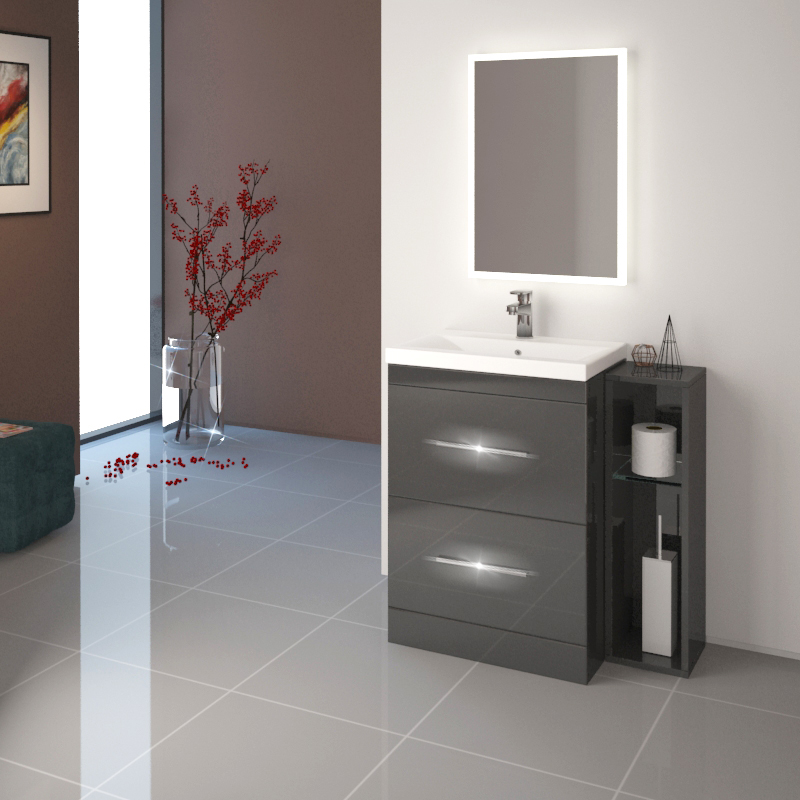 Patello 60 Vanity And 200 Filler unit Grey Buy Online at ...