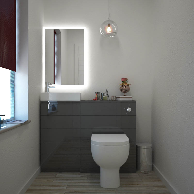 Mercury Grey 1010 Cloakroom Suite Buy Online At Bathroom City