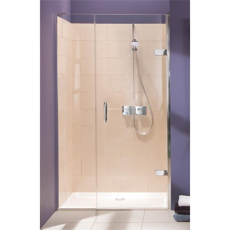 Eauzone hinged door from wall and inline panel for recess for 1300mm shower door