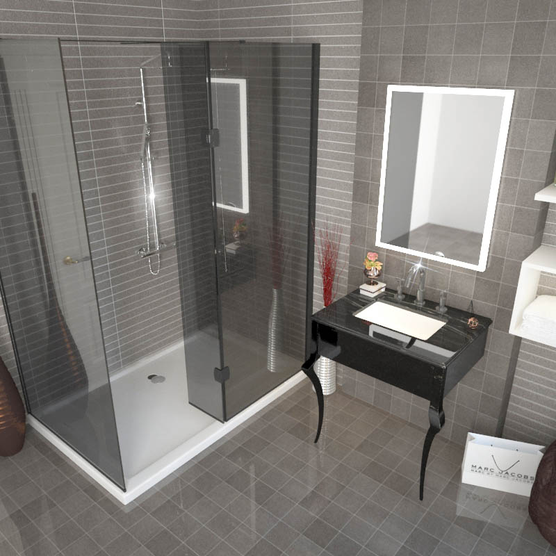 Victoriana Shower Suite large Walk In Shower Enclosure & Basin Wash ...