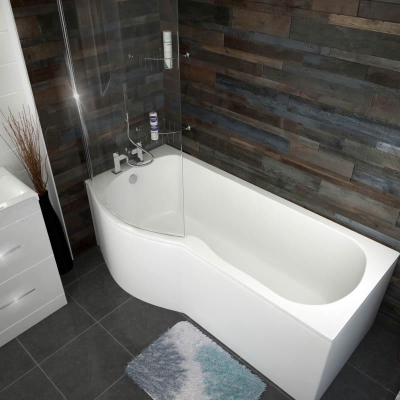 Shaped Baths Small Bathrooms: Patello B / P Shaped Shower Bath Left Handed 1700 Buy