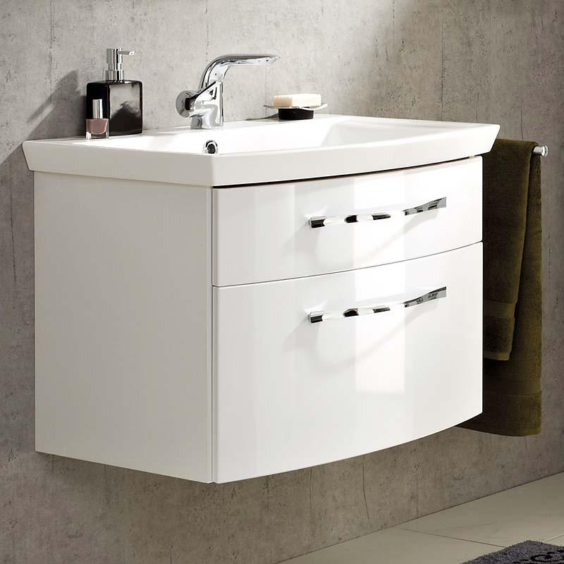 6001 Solitaire Bathroom Vanity Unit 2 Draw 695