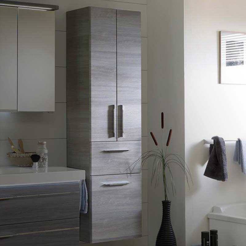 Balto Tall Cabinet 2 Doors 1 Draw with Laundry Basket