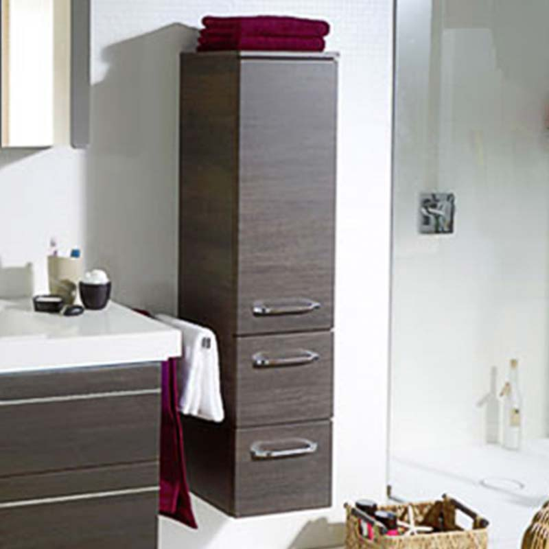 Balto Bathroom Wall Hung Side Storge Cabinet 2 Drawers 1 Door Buy Online At Bathroom City