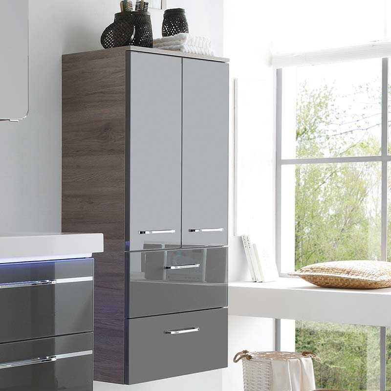 Balto Wall Hung Bathroom Storage Cabinet 2 Doors 2 Drawers Buy Online At Bathroom City