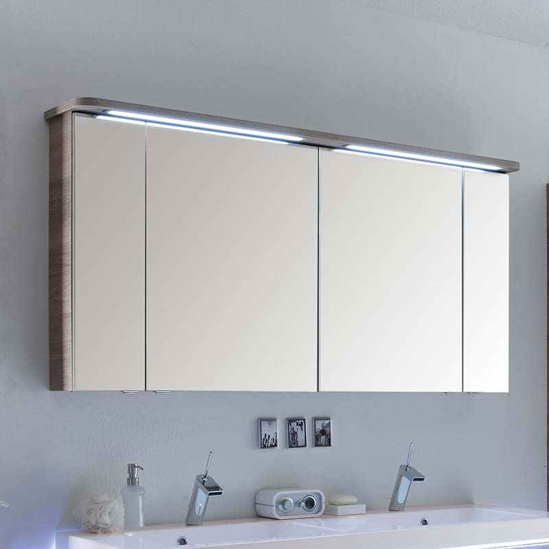bathroom mirror cabinet with shaver socket balto 1200 mirror medicine cabinet 4 door including light 24917