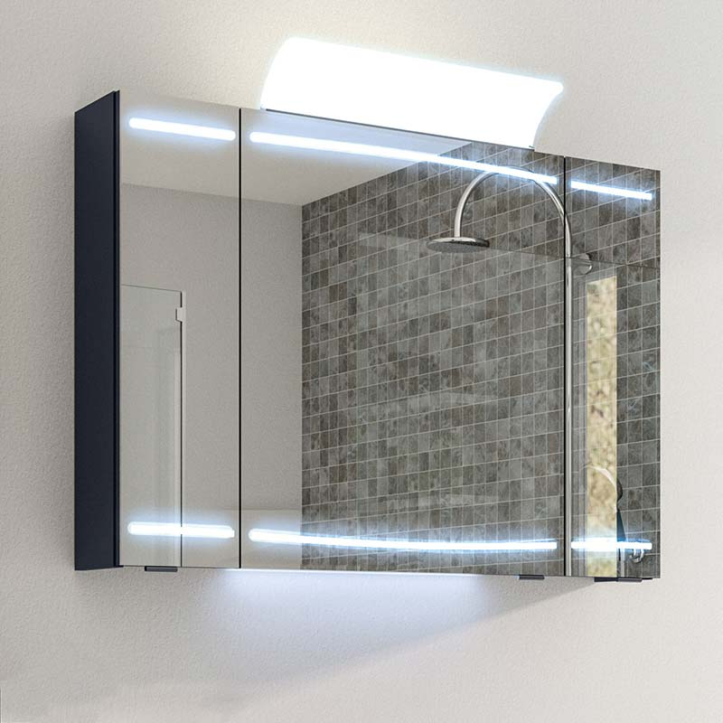 Buy Cassca Mirror Cabinet LED 3 Door Lighting With Shaver Socket