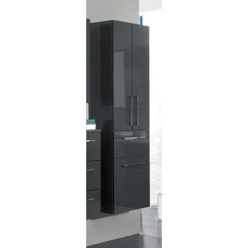 Tall Bathroom Cabinet With Drawers: LUNIC Wall Hung Tall Bathroom Cabinet 3 Doors 1 Drawer Buy