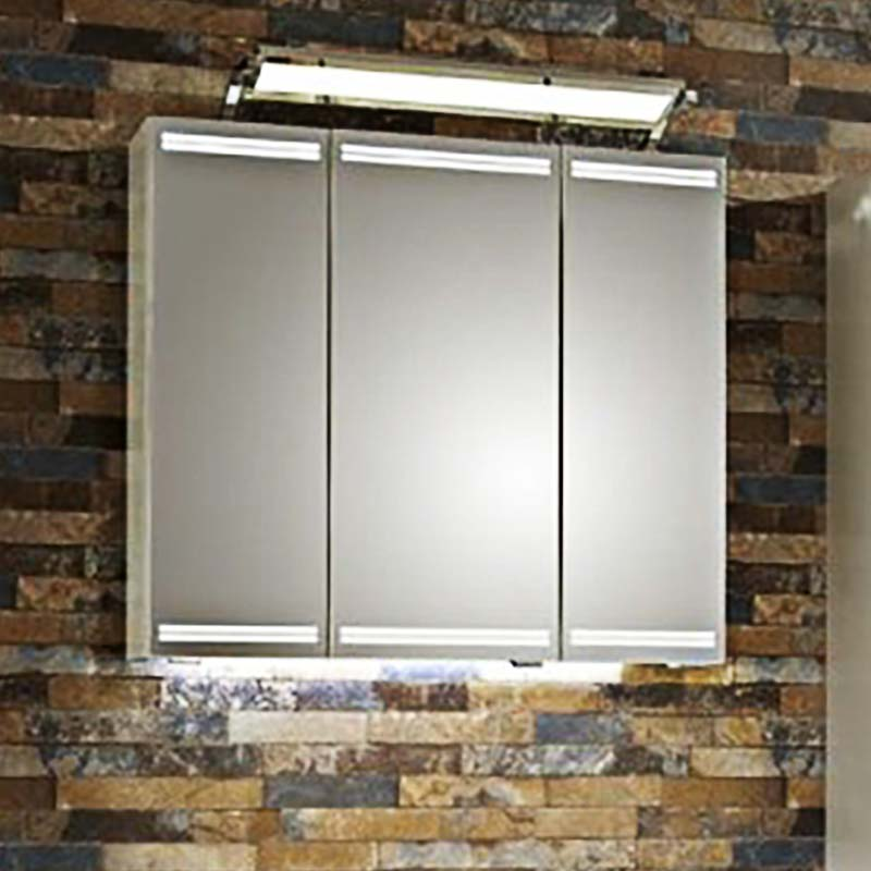 Buy Lunic Mirror Cabinet 3 Door With Led Lighting And