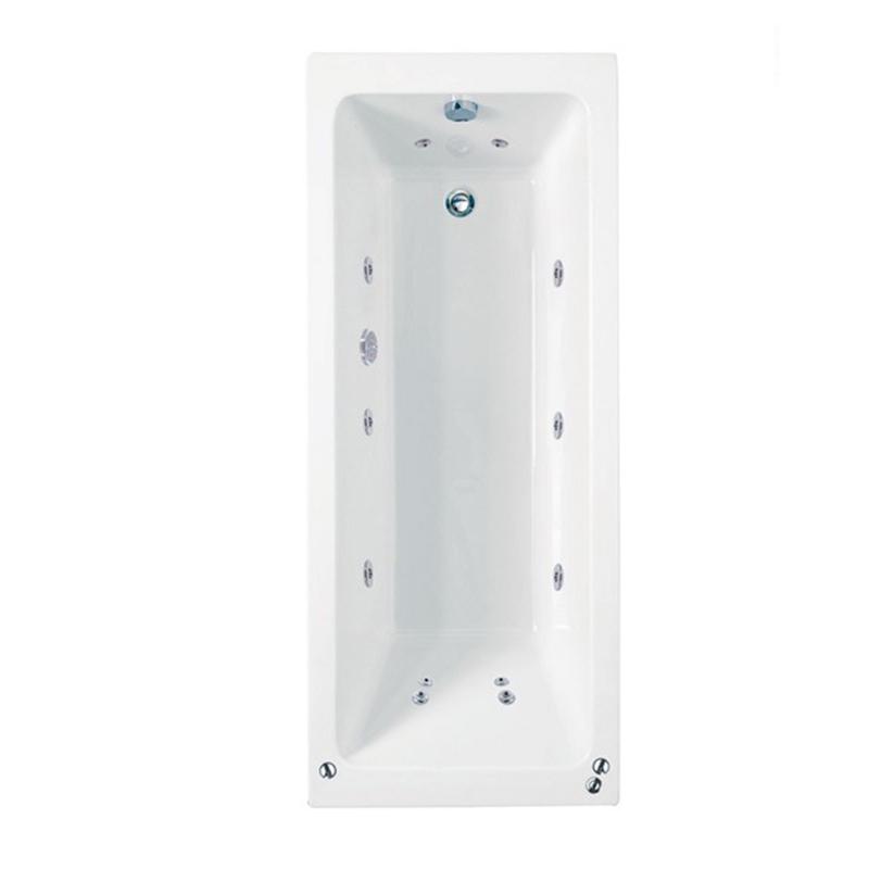 RECTANGULARO 4 Single Ended Bath C/W System 1 (L170 x W75 x D43) 205 Litres