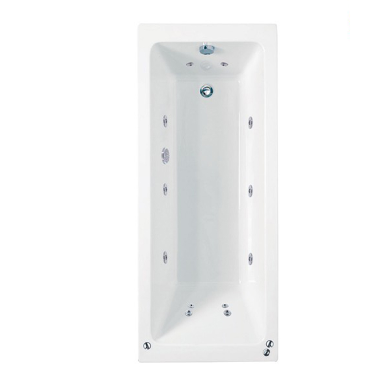 RECTANGULARO 6 Single Ended Bath C/W System 1 (L180 x W80 x D43) 230 Litres