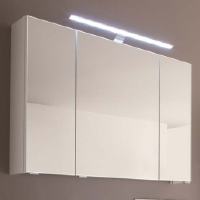 Solitaire 6005 mirror cabinet 3 doors with led top light - Mirrored bathroom cabinet with lights ...