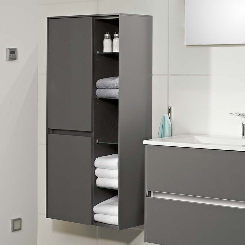 Solitaire 6010 Wall Hung Bathroom Shelf Unit 2 Revolving