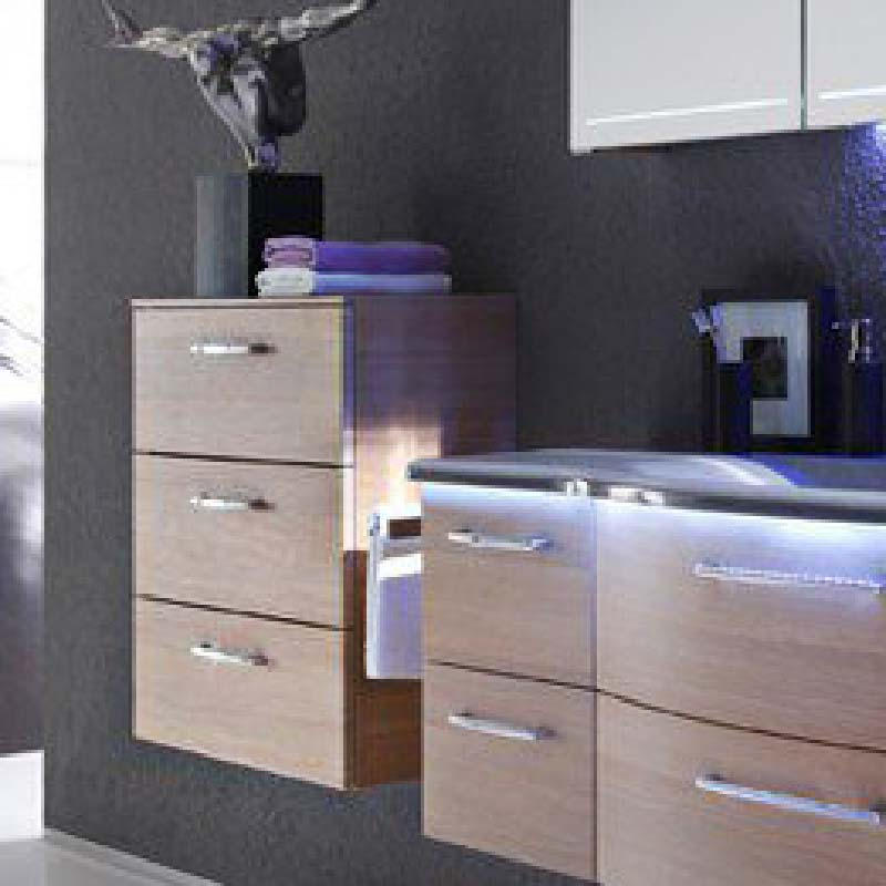 Solitaire 7005 600 3 draw bathroom storage unit 730x600x330 PG1