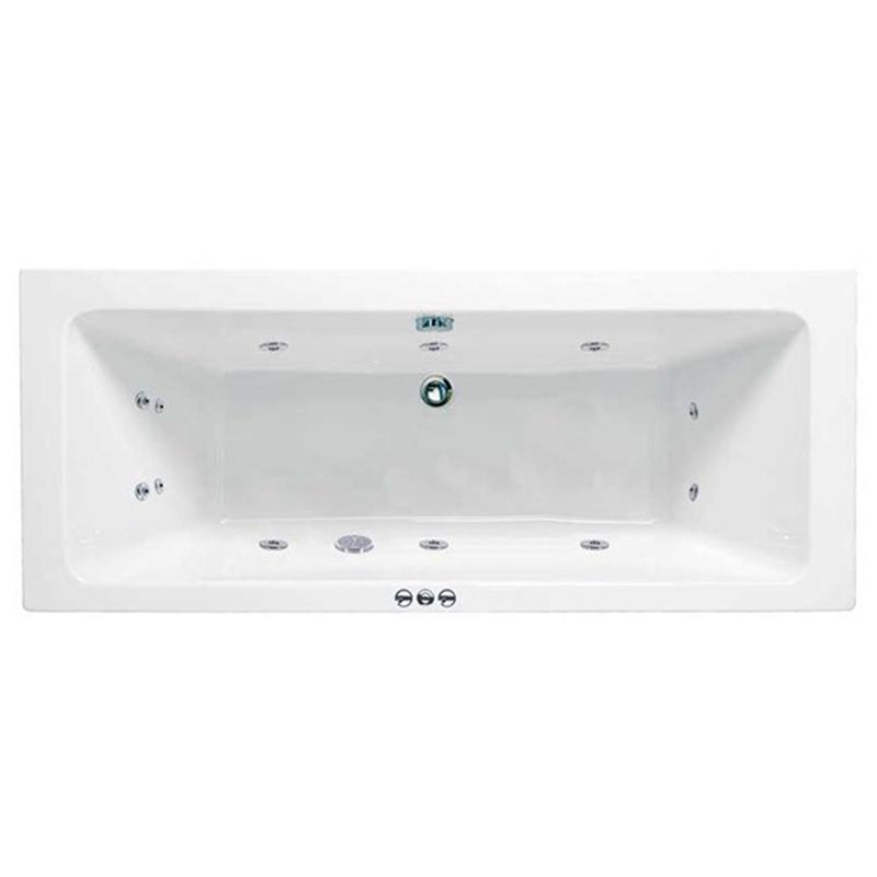 RECTANGULARO 3 Double Ended Bath Amanzonite C/W System 1 (L170 x W75 x D43) 205 Litres