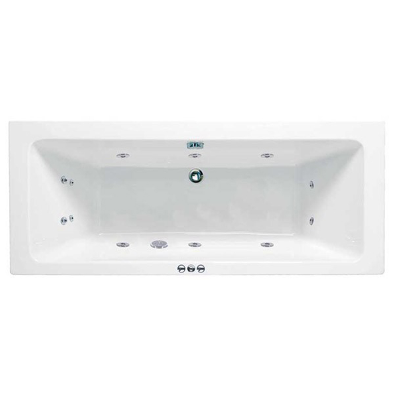 RECTANGULARO Double Ended Bath Amanzonite C/W System 1 (L180 x W80 x D43) 230 Litres