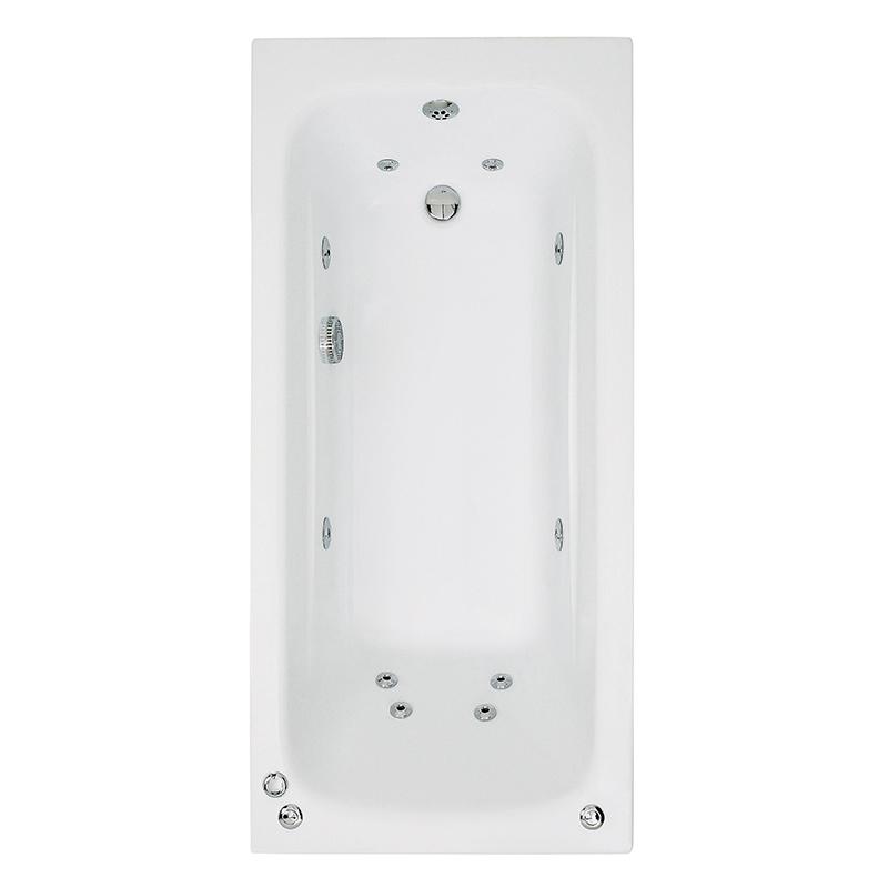CRYSTAL Bath Single Ended  C/W System 1 (L140 x W70 x D41) 145 Litres