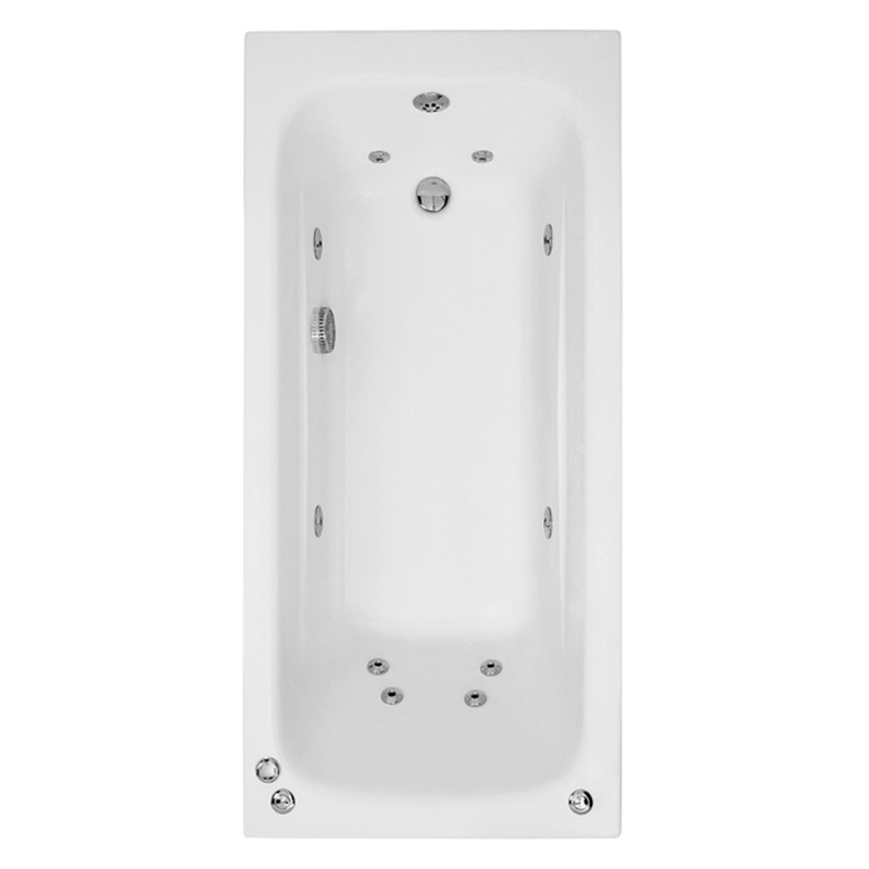 CRYSTAL Bath Single Ended Amanzonite C/W System 1 (L180 x W80 x D41) 225 Litres