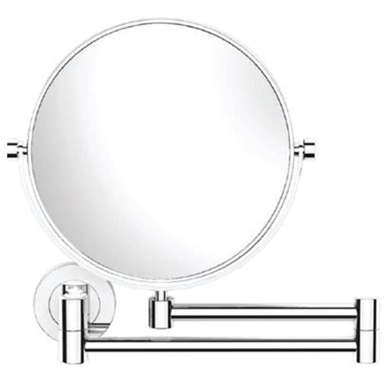 Continental Double Arm Wall Mounted Reversible Plain/ Magnifying (3X) Pivotal Mirror