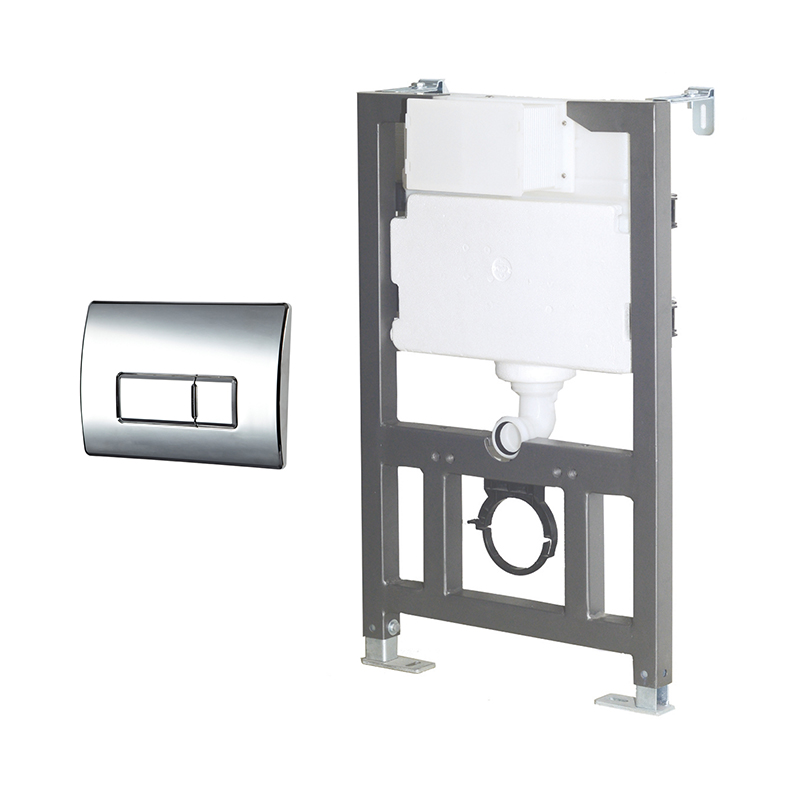 82 Wall Hung Frame & Cistern SQUARE Pneumatic Button
