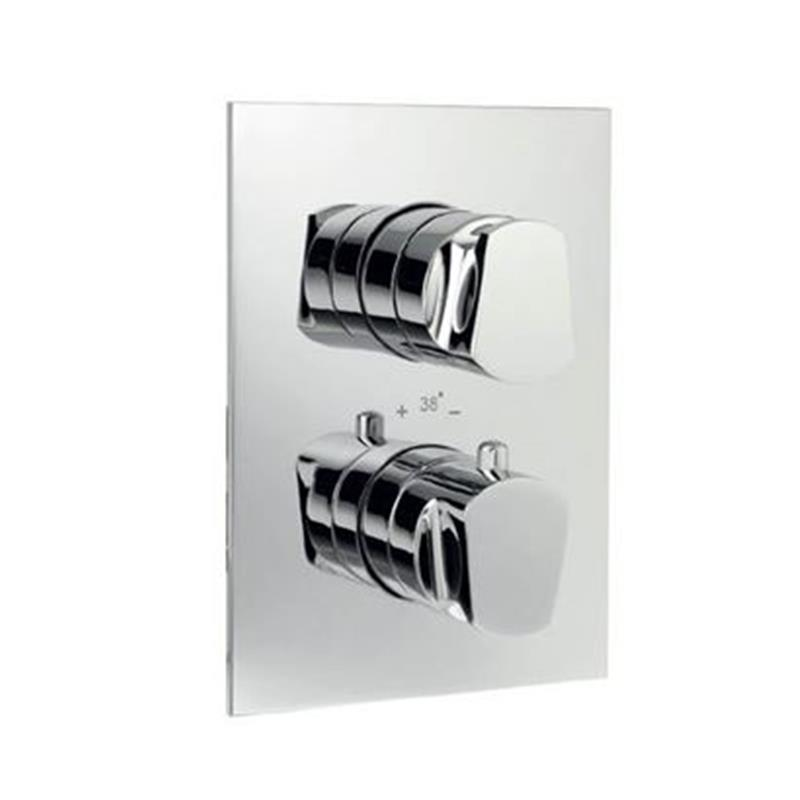 Aria Thermostatic Concealed High Flow Shower Valve 20mm with Built-in Non Return Valves, HP 1.0